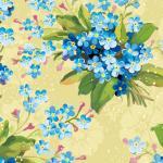 Сине-голубые цветы № 7410
